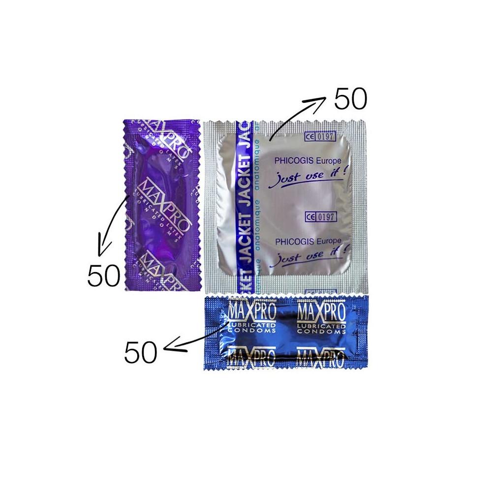 Achat 150 préservatifs techniques (anatomiques, texturés, nervurés).