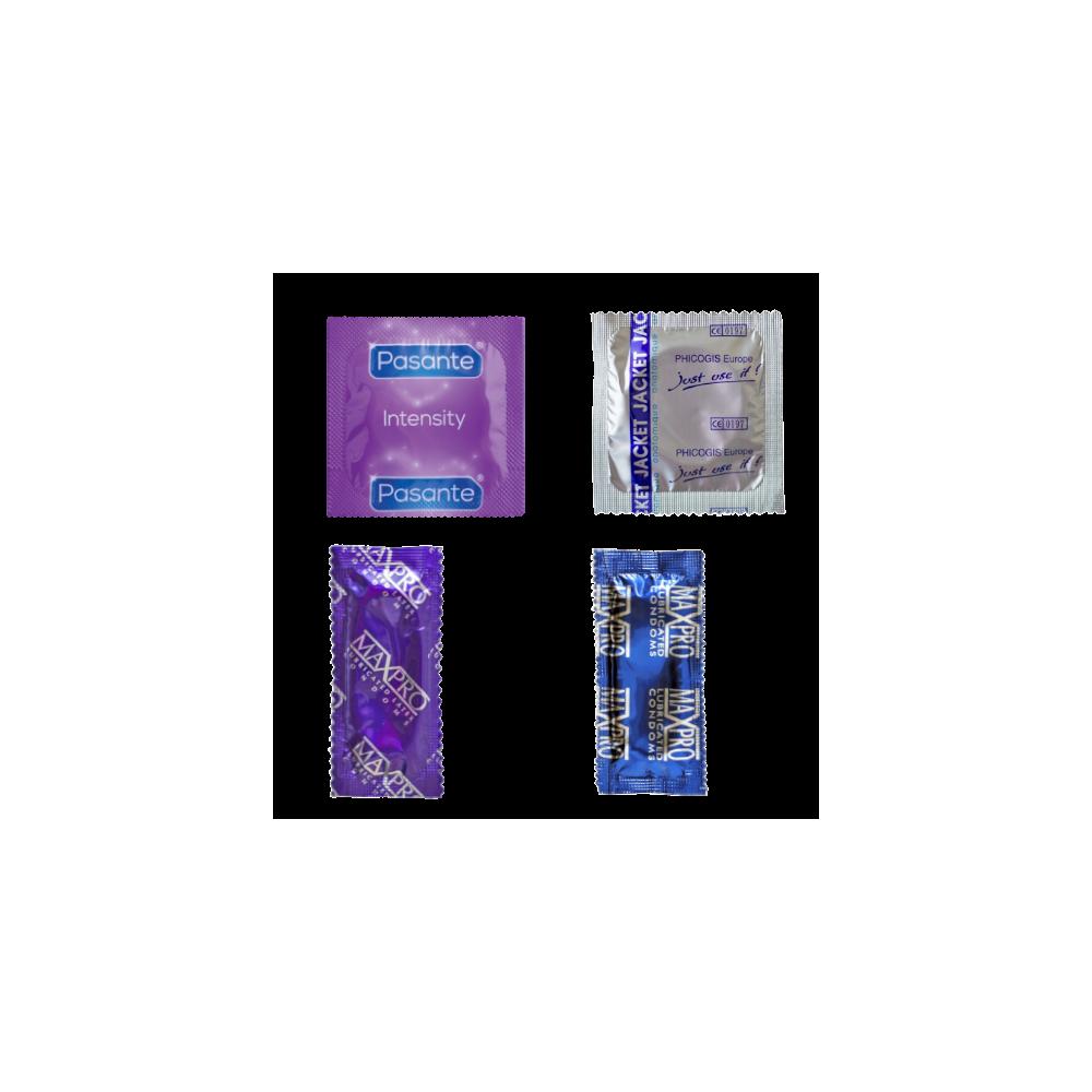 Échantillon préservatifs texturés